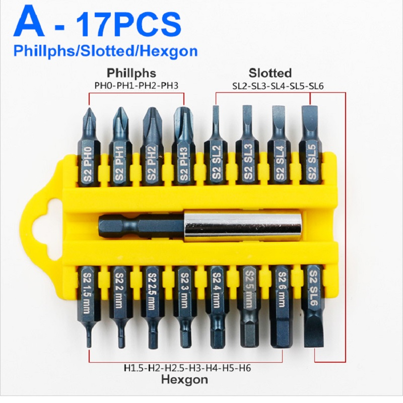 17pcs Security Tamper Proof Torx Hex Star Bit Set Magnetic Holder Screwdriver Bits Torx Hex Star Tamper Proof Screwdrivers Bit in Screwdriver from Tools