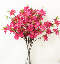6pcs Fake Apple Blossom Flower Branch Begonia Apple Tree Stem for Event Wedding Tree Artificial Decorative Flowers new magnetic simulation apple tree apple tree