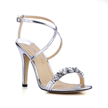 2016 New Sexy Party Shoes Women Stiletto High Heels Ladies Sandals Zapatos Mujer XD09-6 2017 summer red satin elegant wedding bridal shoes women stiletto high heels pears chain ladies sandals zapatos mujer 0640a 13k