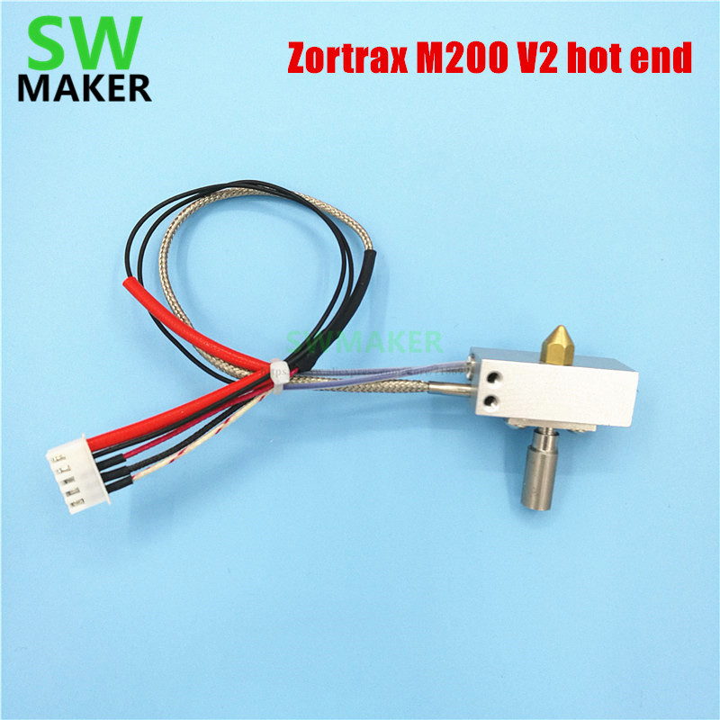 Zortrax M200 V2 hot end With cartridge heater+thermocouple sensor NOZZLE V2 hotend kit for Zortrax M200 extrusion 3D printer детская футболка классическая унисекс printio крестики нолики