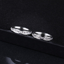 Titanium Stainless Steel Rings For Women Small CZ  Surround Fashion Jewelry