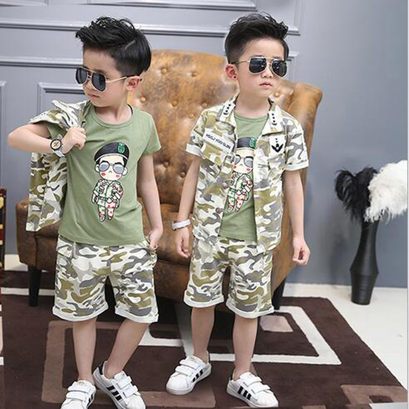 2016 Fashion Kids Tracksuit Casual Vetement Enfant Garcon Handsome Boys Clothing Set Cool Ropa Mujer Summer Child Tracksuit