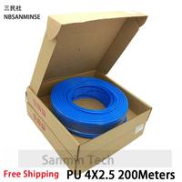 200M 100M Pipe Blue PU Pneumatic Hose Tube Pneumatic Hose Air Compressor PU Hose Hydraulic Components