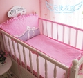 Promotion! 5PCS Mesh Bumpers Baby Bedding Set Bumper Bed Sheet Crib Bedding Set Cot Set,include(4bumpers+sheet)