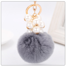 ФОТО Rabbit Hare Bunny Keychain  Womens Bag Famous   chan Designers Charms Car Pendant Keychain Pearls