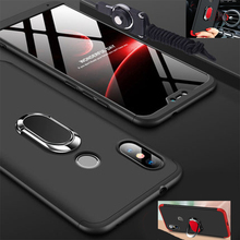 Case for Redmi Note 7 Pro Xiaomi pc hard full Protect Capas magnet car ring holder