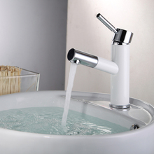 Bathroom Basin Faucet Vanity Vessel countertop Brass Pull out Hot and Cold Water Mixer Deck Mounted Single Handle Tap torneira