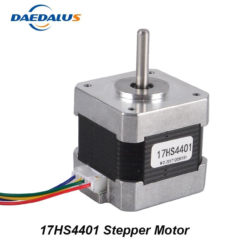 Nema17 Stepper Motor 1pcs 4-lead Nema 17 Stepper Motor 42 Motor 17HS44011.7A For 3D Printer And CNC XYZ threaded nema17 stepper w 460mm tr8 12 leadscrew acme leadscrew threaded rod nema17 stepper motor