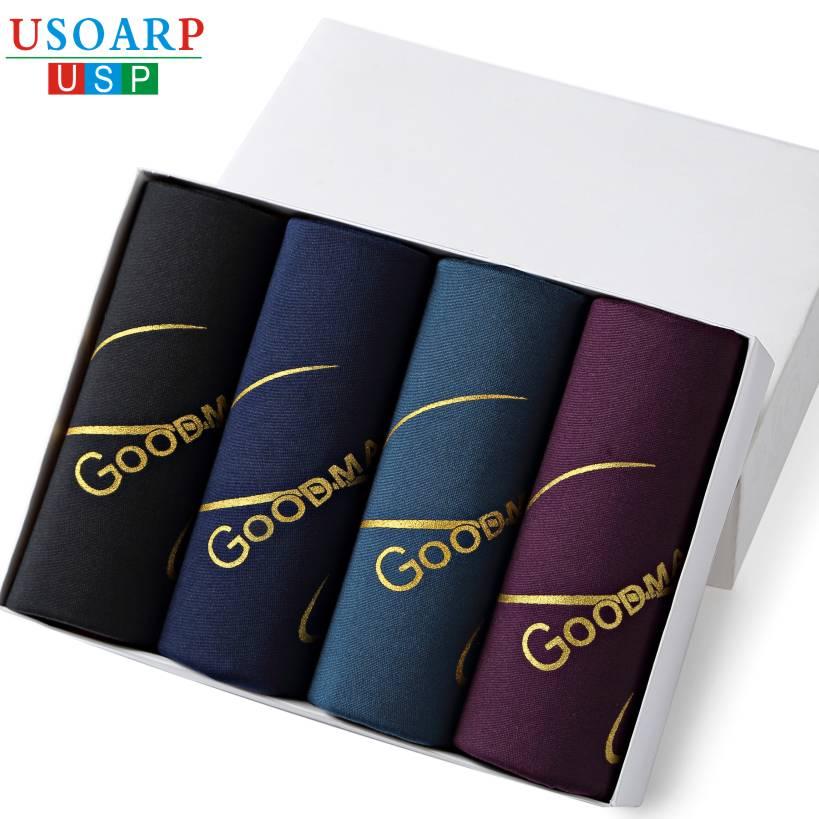 New 14 Print Color Casual Fashion Brand High Quality Boxer 4pcs/lot Mens Modal Boxers Men's Shorts