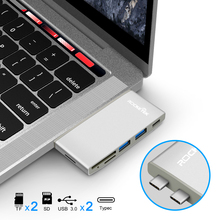 Rocketek multi type c 3.0 USB hub port adapter Power Interface splitter SD/TF Card Reader for MacBook pro pc laptop accessories