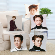 Caliente de La Manera Popular EXO Chanyeol Throw Chico Guapo Personalizar Durable Fundas de almohada para Cama Hotel Mejor Regalo para EXO Planet ventiladores