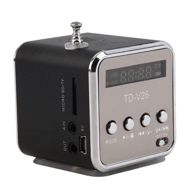 Mini altavoz inalámbrico portátil con Panel de pantalla LED compatible con tarjeta de memoria TF disco USB Radio FM línea de reproducción MP3 en función