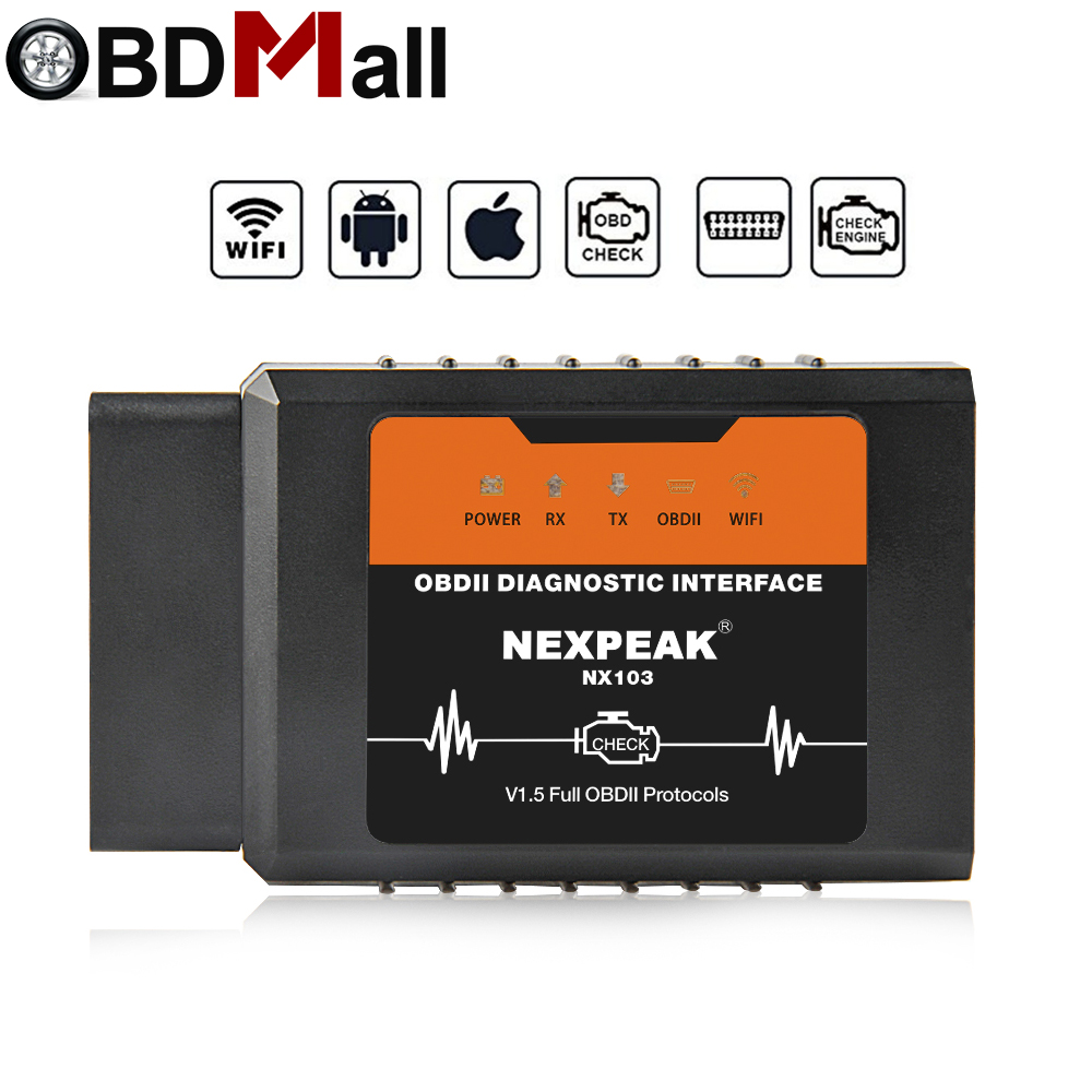 OBD2 ELM327 V1.5 WIFI PIC18F25K80 V1.5 Scanner Für IPhone IOS Auto Diagnose Werkzeug OBD 2 ODB II ELM327 WIFI ODB2 auto Scanner V1.5