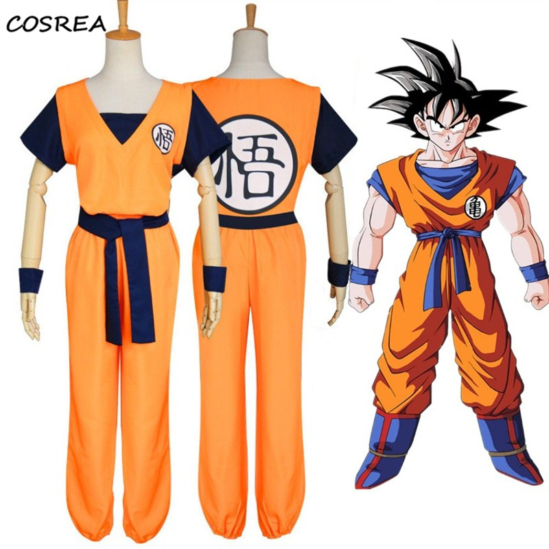 High Quality Dragon Ball Son Goku Kakarotto Turtle senRu Cosplay Costume Men Boy Outfits Halloween Party Props Uniform Sets Gift