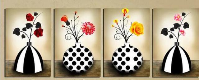 Modern Wall Art Home Decoration Printed Oil Painting Picture 4 Piece
