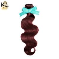 KL Hair Brazilian Body Wave Color Hair Bundles Color 99J Hair 100 Human Hair Weaving No