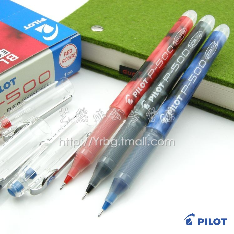 (3pcs )Baile pilot pen bl-p50 p-500 needle pen unisex pen 0.5 ball pen leugth pilot dr grip pure white retractable ball point pen
