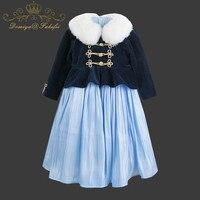 Детские вечерние платье 2018 детская одежда Костюмы маленьких девочек Бальные платья костюм принцессы для девочек Одежда для младенцев