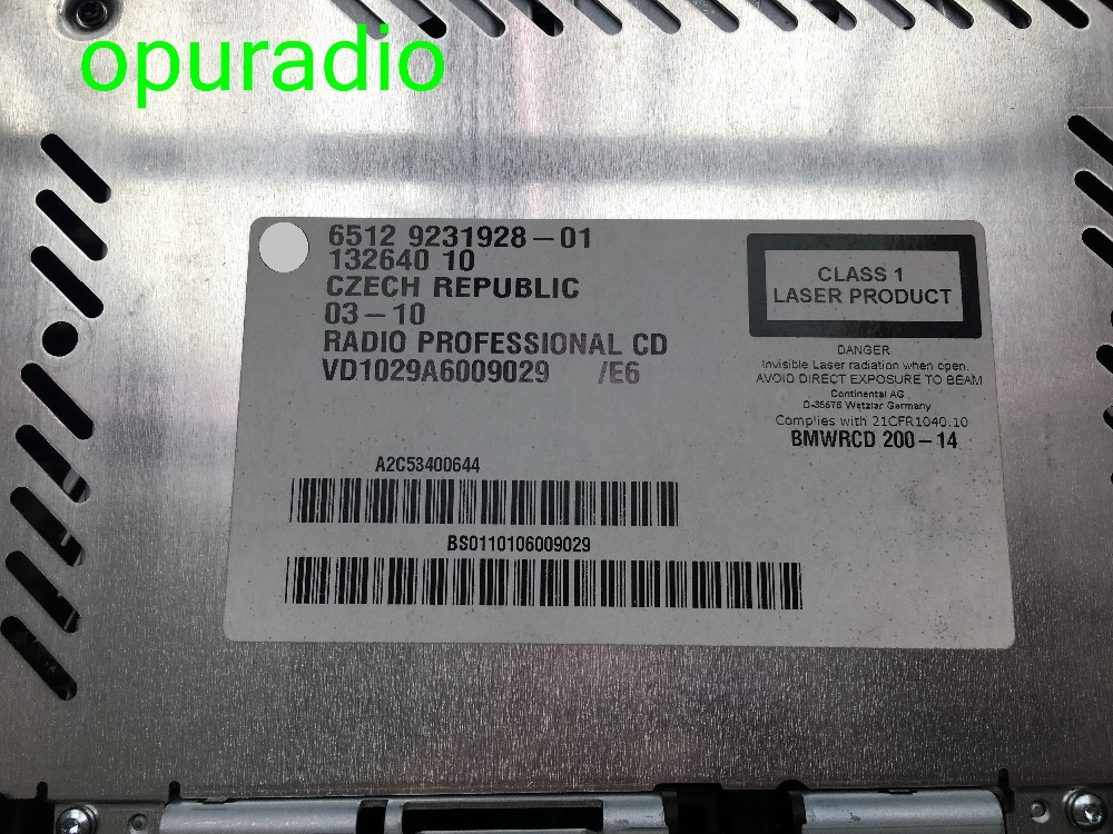 BMWRCD200 6512 9231928-01 6512 9343204-01 с оптическим функция BMNW E60 E84 E87 E90 E91 автомобиля MP3 CD-плеер