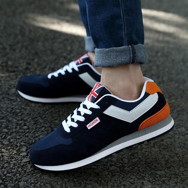 2016 Novos Homens Sapatos Sapatos de Desporto Moda S Neakers Masculinos Flats Casual Ativos Respirável Sapatos Para Homens 4 Cores Tamanho Asiático