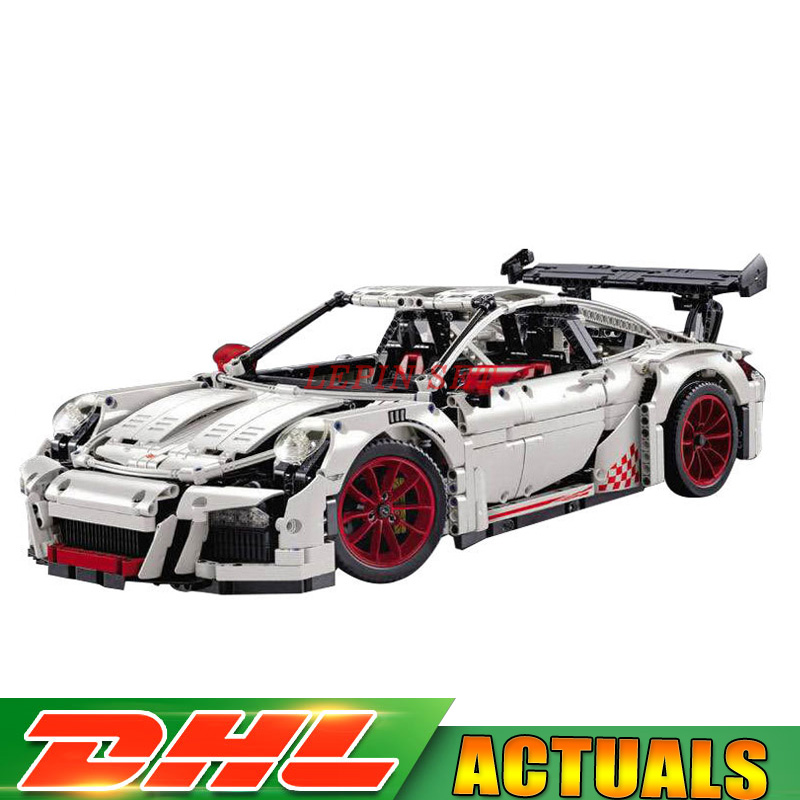 IN Stock DHL LEPIN 20001B Technic White Race Car Model Building Kits Blocks Bricks Clone LegoINGLY 42056 Boys Gift Toys in stock dhl decool 3333 building blocks toy 1 10 car model supercar red assemblage racing brain game gift clone 8145