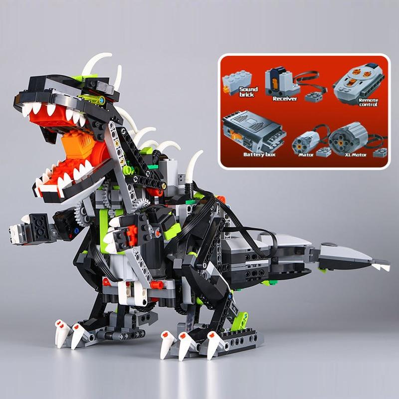 WAZ Compatible Legoe Technic Lepin 24010 792pcs 3 in 1 Dinosaur RC Sound Function building blocks 4958 Bricks toys for children 8 in 1 military ship building blocks toys for boys