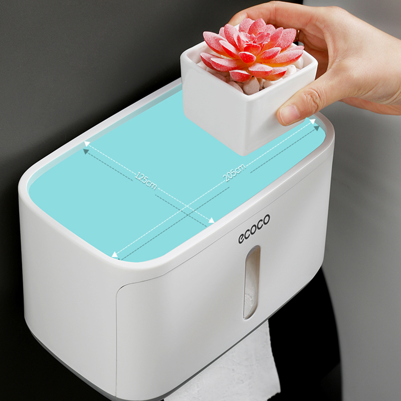 Image 5 - Waterproof Toilet Paper Holder Creative Plastic Bathroom Toilet Roll Holder Wall Mounted Kitchen Paper Towel Holder 2019 Newest-in Paper Holders from Home Improvement