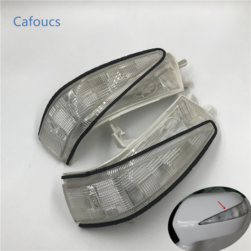 Cafoucs Car Led rearview side mirror turn signal indicator lights rear view mirror lamp for honda civic 2006-2011 FA1 FD1 FD2