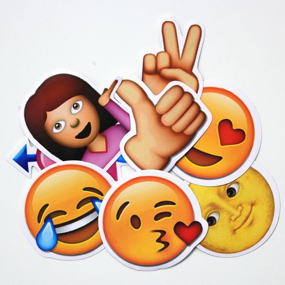 50 Stücke Lustige Emoji Aufkleber Spielzeug Für Kinder Cartoon Emoticon Lächeln Gesicht Decor Aufkleber Skateboard Laptop Koffer Sammelalbum Geschenke Klar Und GroßArtig In Der Art Klassische Spielzeug Sammeln & Seltenes