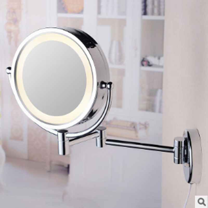 T Waterproof Copper Sensor Light Mirror LED Mirror Lighted Bathroom Mirrors Makeup Mirror Professional Vanity Mirror with Light copper bathroom shelf basket soap dish copper storage holder silver