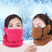 Winter 3 in 1 neck ear and mouth warm thermal mask fashion face mask winter mask women cotton mask scarves wraps