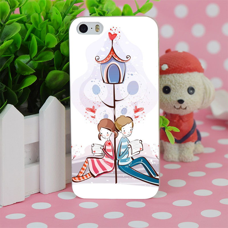b2268 love letters transparent hard thin case cover for apple iphone 4 4s 5 5s se 5c 6 6s 6plus 6s plus