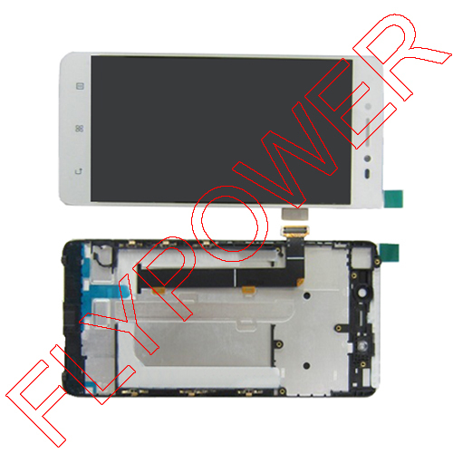 White LCD Display Screen For LENOVO S90 S90-T S90-U LCD+Touch Screen Digitizer+frame Assembly SG by Free shipping