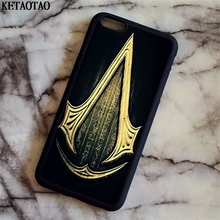 KETAOTAO Assassins Creed game figure Art Phone Cases for iPhone 4S 5C 5S 6S 7 8 Plus X for Samsung Case Soft TPU Rubber Silicone