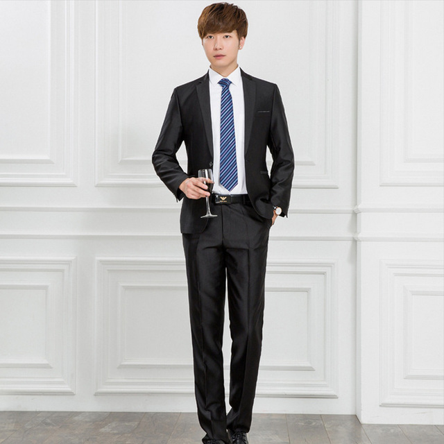 Aliexpress.com : Buy 2017 Men Business Suit Slim fit Classic Male ...