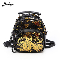 Sequins New Fashion Backpack Women Cute School Bags Teenager Shoulder Bag Girl Small Backpacks Bling Fashion