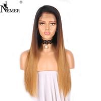 Немерено 100% натуральная человеческих волос парики с ребенком волос немерено Glueless 13x6 Синтетические волосы на кружеве 150% плотность Ombre волос