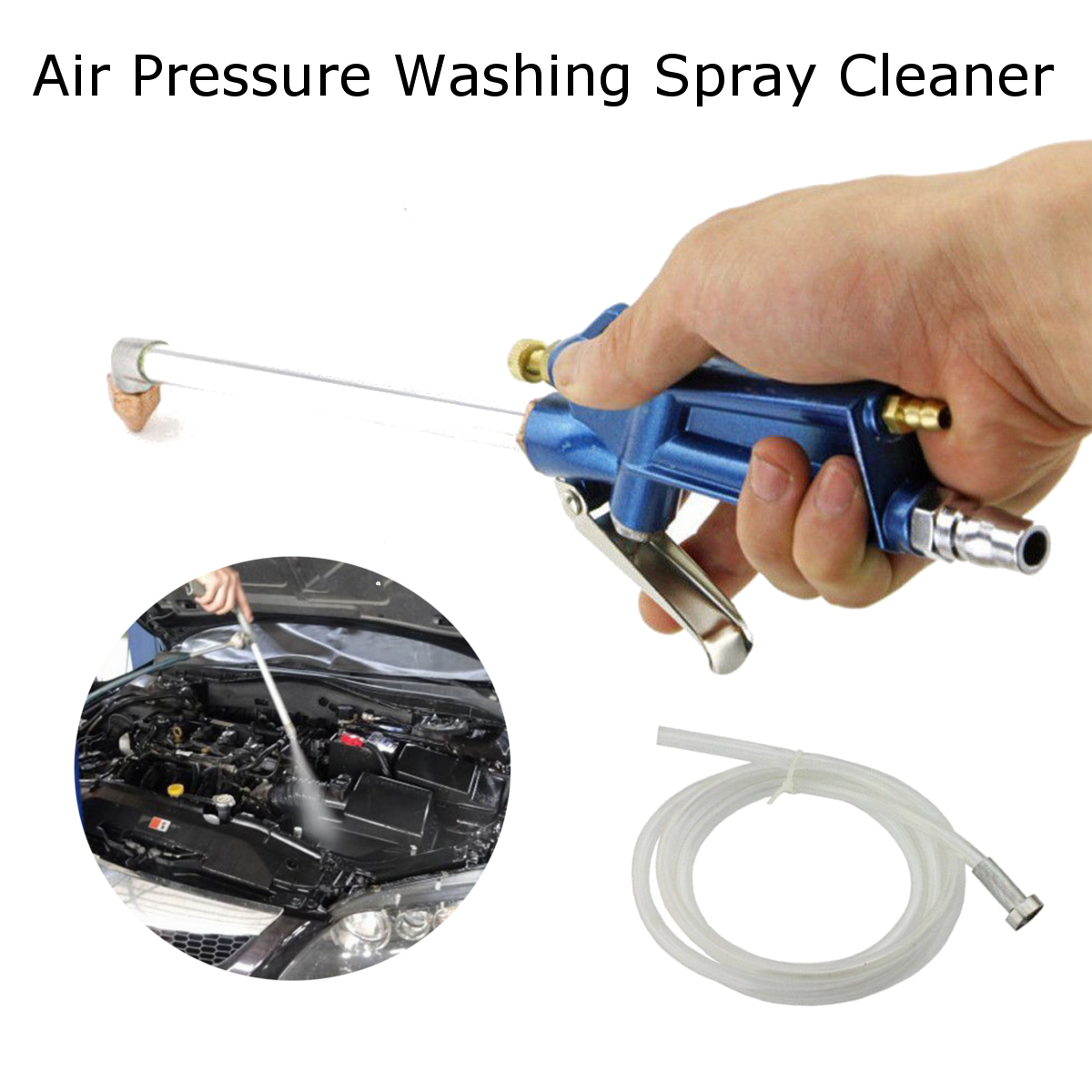 home car truck air pressure washer spray cleaner and blow washing tool kit