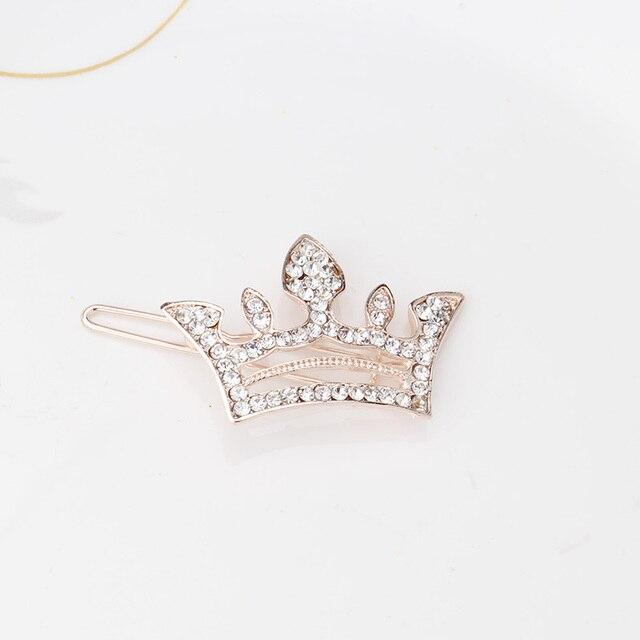 M MISM Children New Shiny Rhinestone Crown Hair Clips Girls Hair Accessories Tiara Crown Barrettes Kids Hair Pins Head Jewelry