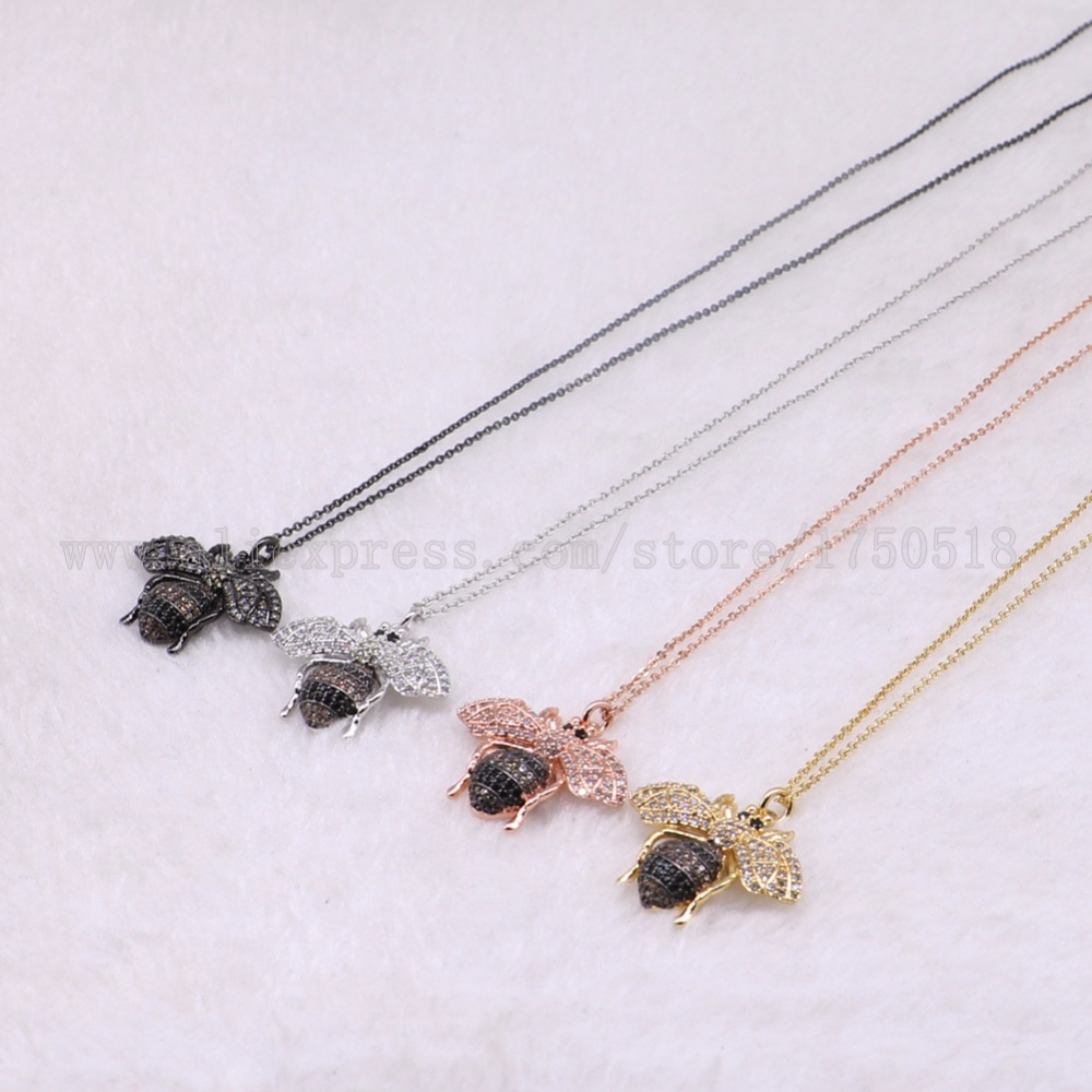 5 strands bugs necklace Insects bee pest pendants necklace small size jewelry 18 mix color necklace pets beads 3065