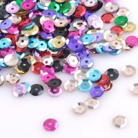 6.5mm 33g (2000Pcs) Flat Round Loose Sequins Paillettes beads Sewing Wedding Craft  CP0354X