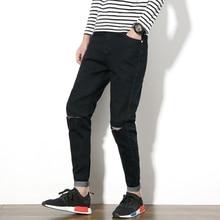 New arrival fashion casual straight slim quality cotton jeans Autumn&Winter patchwork micro-elastic boutique jeans men 29-42