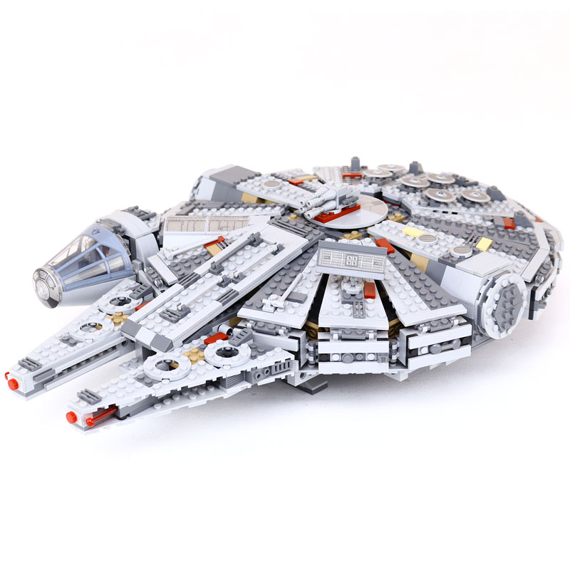2017 Star Series Wars Millennium Falcon Outer Space Ship Building Block Model Toys Christmas Birthday Gift Compatible LEGOingly lepin 22001 pirate ship imperial warships model building block briks toys gift 1717pcs compatible legoed 10210