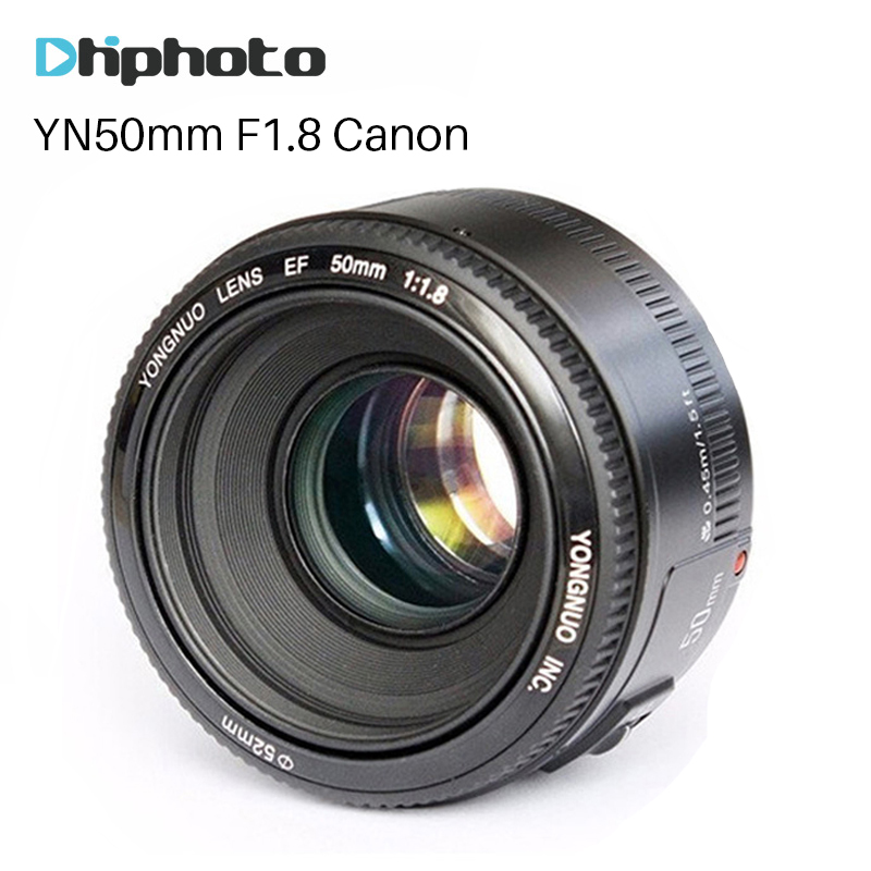 YONGNUO YN50mm F1.8 EF Lente 50mm para Canon Grande Abertura AF/MF Auto Lente de foco Para A Câmera DSLR 700D 750D 800D 10D 5D Mark IV