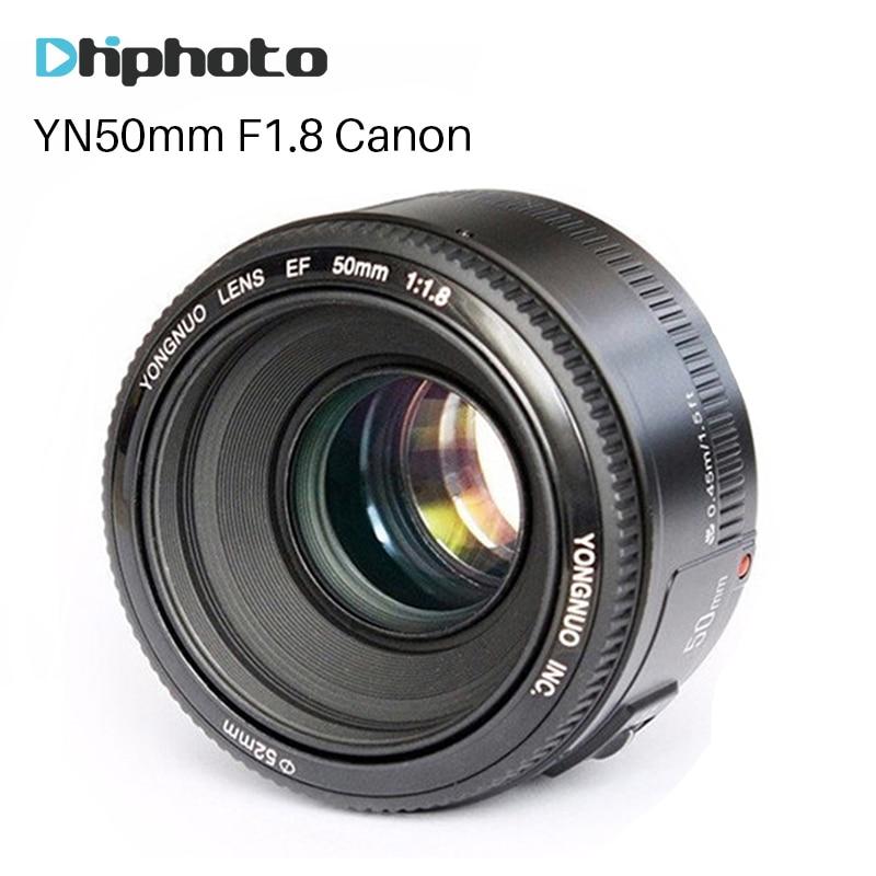 YONGNUO YN50mm F1.8 Lens EF 50mm for Canon Large Aperture AF/MF Auto Focus Lens For DSLR Camera 700D 750D 800D 5D Mark IV 10D yongnuo yn 50mm yn50mm lens fixed focus lens ef 50mm f 1 8 af lense large aperture auto focus lens for nikon dslr camera