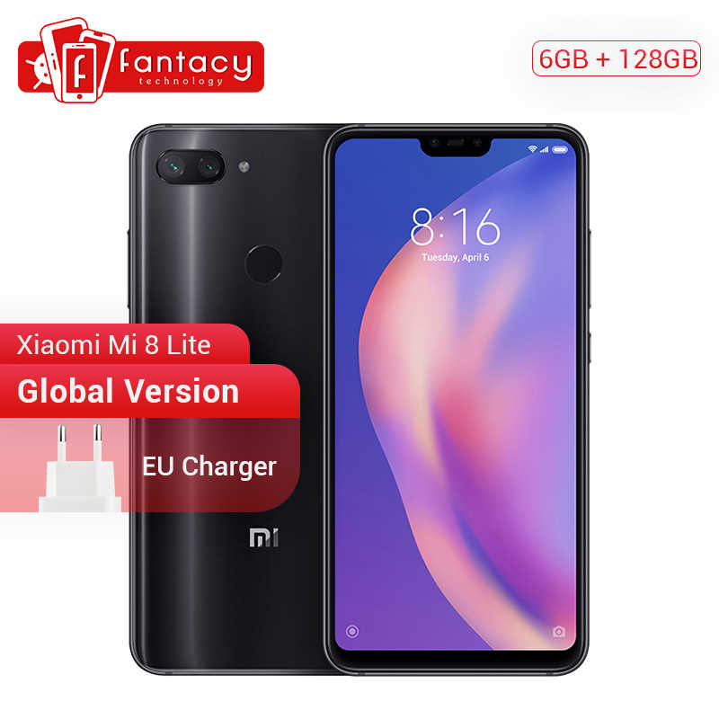 "Глобальная версия Xiaomi mi 8 Lite 6 ГБ 128 Snapdragon 660 AIE Octa Core 6,26 ""2280*1080 P Full Экран смартфон mi UI двойной 24MP CE"