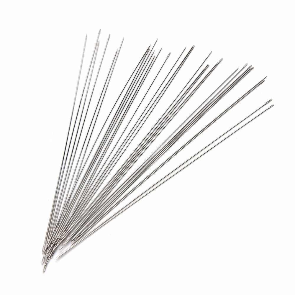 נירוסטה 30Pcs שימושי ואגלי מחטי השחלה כבל כלי עבור DIY תכשיטי ממצאי רכיבים