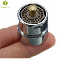 1Pcs Mrosaa Brass One Touch Control Faucet Aerator Water Saving Tap Aerator Valve Male Thread 23.6mm Bubbler Purifier Stop Water
