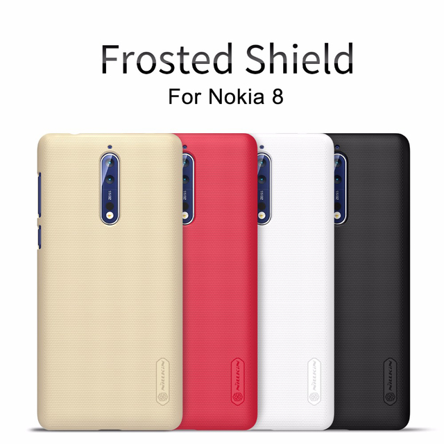 the best attitude 49153 9da02 US $7.19 5% OFF|NILLKIN Case For Nokia 8 Sirocco Super Frosted Shield matte  hard back cover Nokia 8 case-in Fitted Cases from Cellphones & ...