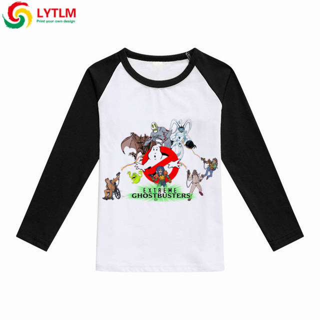 cf943f792 LYTLM T-shirts Girl 10 Years Ghostbusters Shirt Boys T-shirt Kids Long  Sleeve Autumn Cartoon Kids Sweatshirt Teen Boys T Shirts